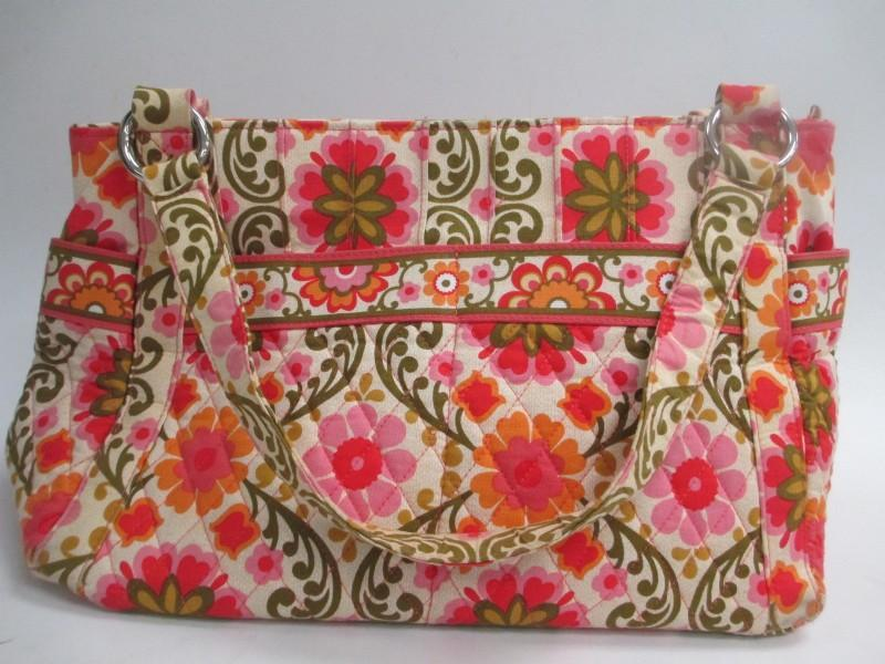 Vera Bradley Folkloric Zip Top East West  Hand Bag  Purse