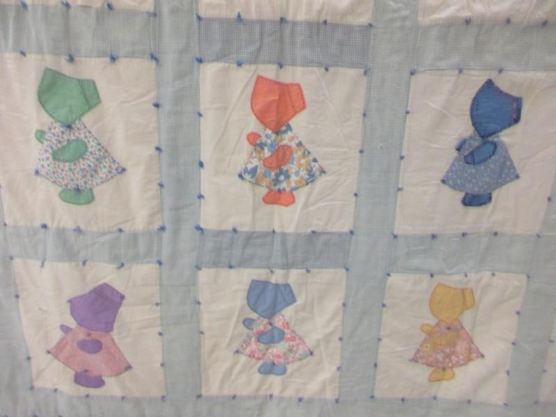 Sunbonnet Sue Quilt  Handmade Vintage  Applique