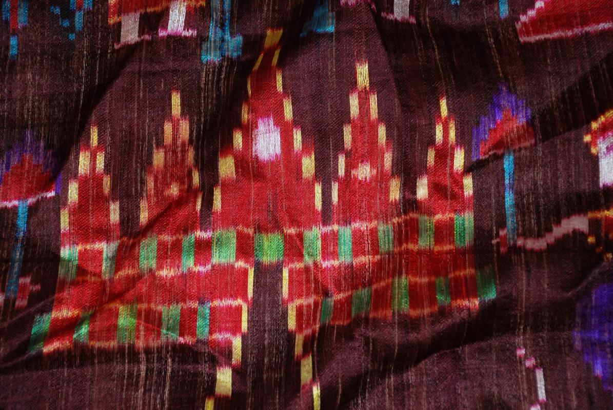 South East Asian Raw Silk Fabric, Cloth Piece 48