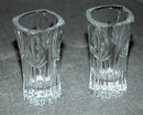 Pair of cut crystal glass tooth pick holders ** PRICE REDUCED!**
