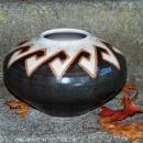 Southwestern / Tribal Coiled Stoneware Pot Signed