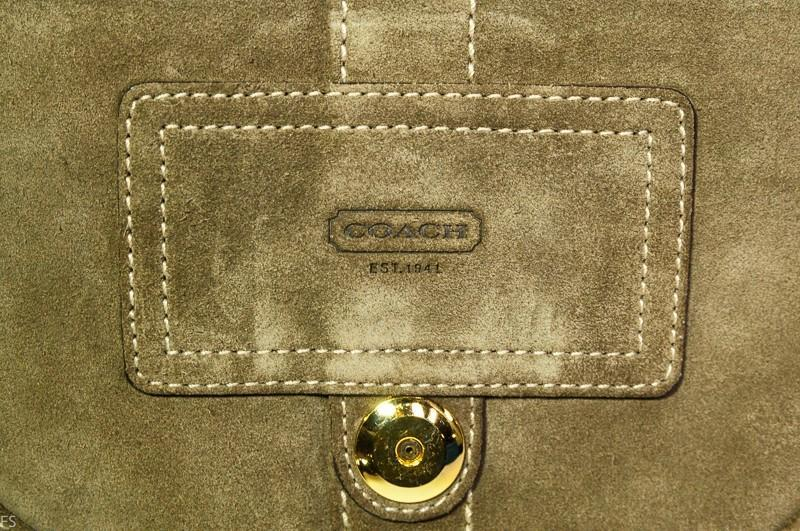 Coach  Camel Suede Soho Flap Purse