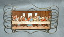 Last Supper Print Mounted on Ceramic Tile in