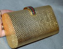 Gucci Clamshell Clutch Purse Goldtone Vintage!