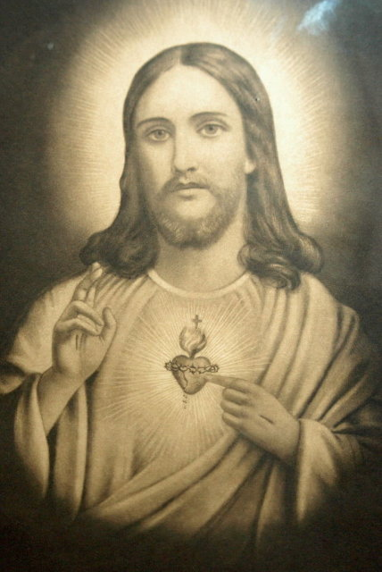 1926  Sepia Tone  Jesus Print   Antique