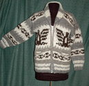 Genuine Cowichan Indian Sweater  Made Expressly for Hill's Indian Crafts Hand Knit 100 % Wool