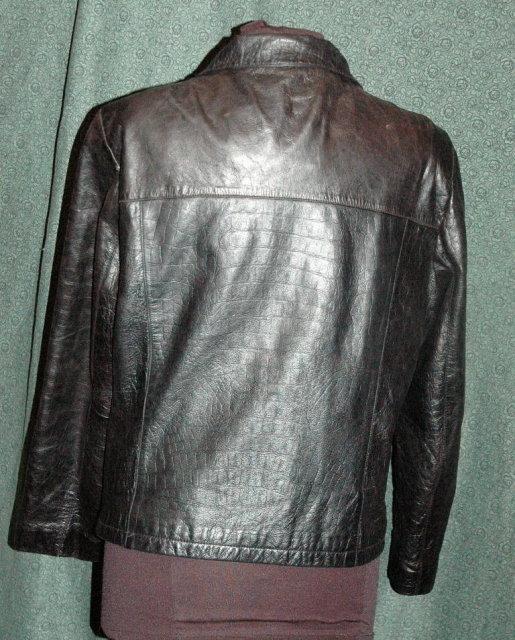 Black Leather Coat/ Wilson Leather Pelle