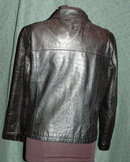Black Leather Coat/ Wilson Leather Pelle