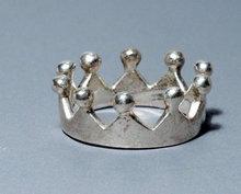 Unusual Sterling Crown Ring