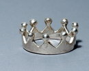 Unusual Sterling Crown Ring