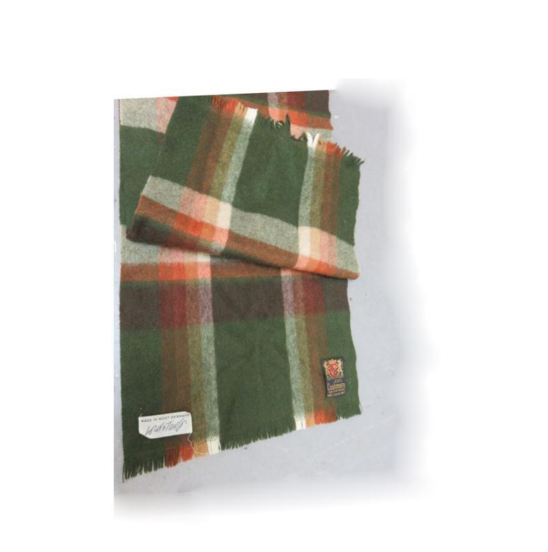 Lord & Taylor  Plaid  Cashmere Scarf Green, Cream and Rust Red
