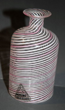 Italian Murano Glass Bottle Ferro & Lazzerini   **PRICE REDUCTION! ***