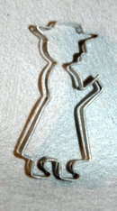 Vintage Peacher Man Cookie Cutter  *RARE** Price Reduced