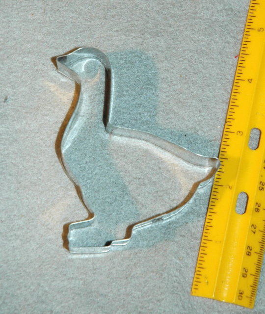 Duck Cookie Cutter  3 3/4