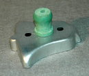 Vintage Bell Aluminum Cookie Cutter with Green Handle