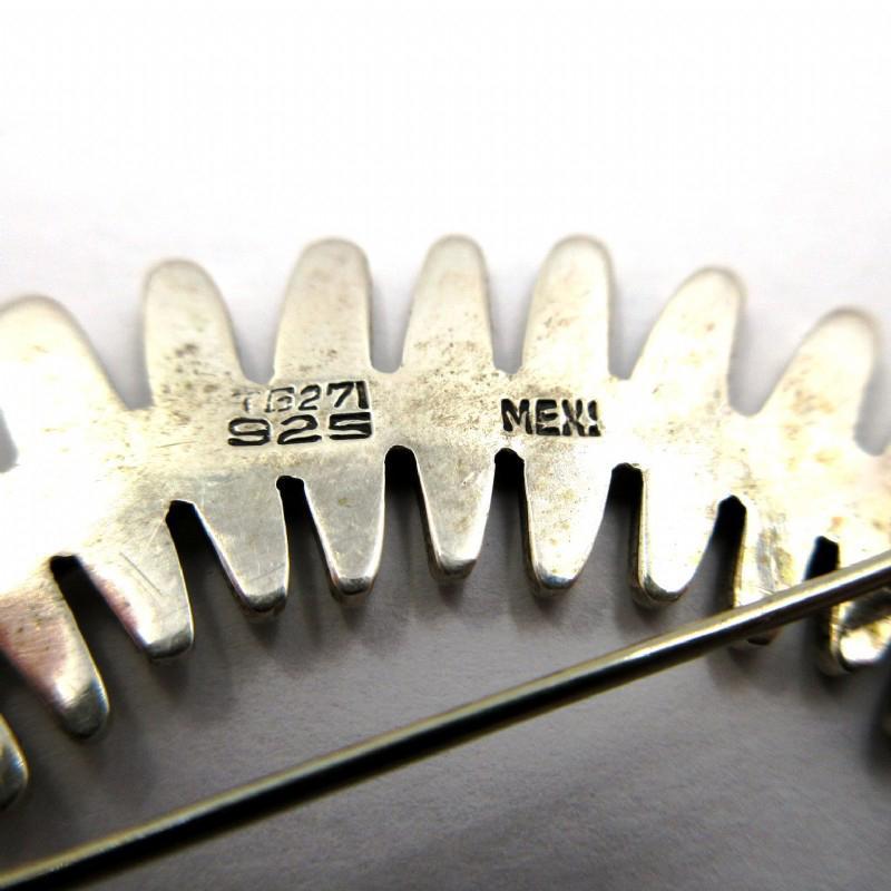 TAXCO  Modernist Large  Sterling Curved  Fish Skeleton Brooch
