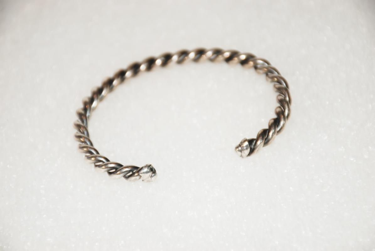 Native American Sterling Silver Twisted Cuff Bracelet, 18g