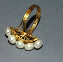 14K Gold MOD  High Crest Freshwater Pearl Ring  size 7  * REDUCED PRICE !**