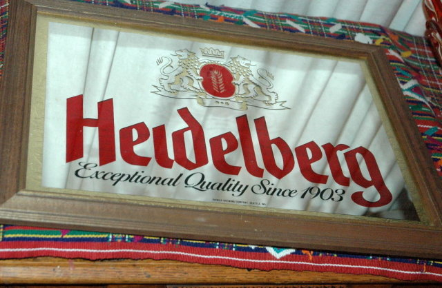 Rainier Brewing co. Heidelberg Beer Mirror