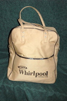 Vintage Canvas Zippered  Luggage Tote for Whirlpool   PRICE REDUCTION!**