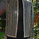 Norman Norell Couture Crystal Glass Swarovski Lochrosen Sequin Rhinestone Covered Black Jacket Blazer   Runway, Movie Star