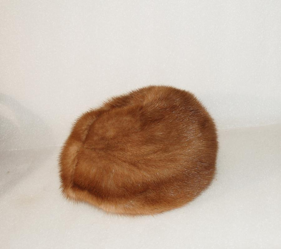 Vintage Mink Pill  Hat an Original by Ethel Young, Seattle