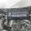 Glass Beaded Shawl Scarf  Black &Silver Beads Sharmark Las-Vegas