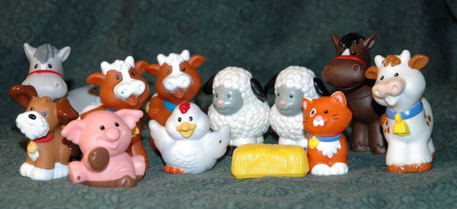 Fisher Price Farm Animal  12 pc Lot