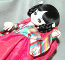 Vintage Retro Asian  Cloth  Doll Hand Painted