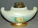 Yellow Rose Porcelain  Table Lighter M. Briggs