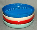 4 Retro Plastic Stacking Multi Color Ashtrays