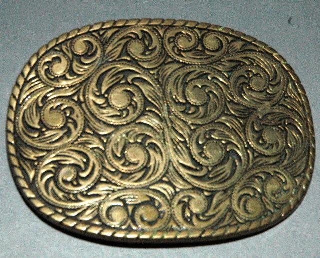Vintage Solid Brass  Belt Buckle - ADM / Olkahoma