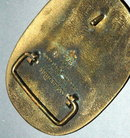 Vintage Solid Brass  Belt Buckle - ADM / Olkahoma