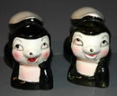 Cute Skunks Salt and Pepper Shakers Vintage