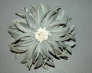 Large hand crafted velvet flower pin brooch