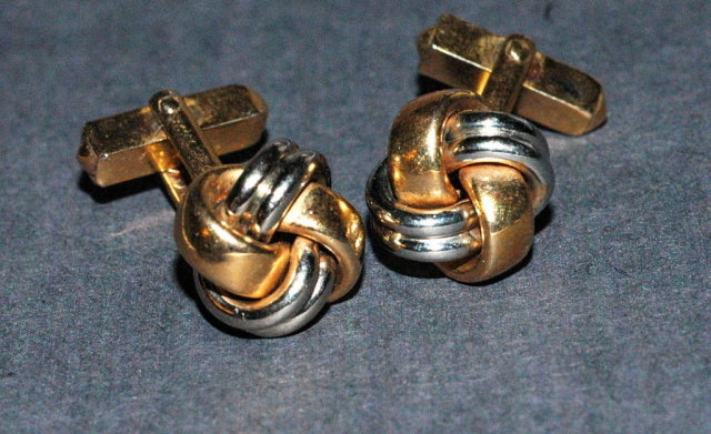 Gold & Silver Cuff Links by Swank