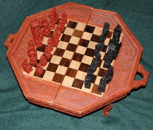 Handcarved Folding Chess Table from Bali  ** PRICE REDUCED! **