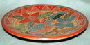 Old Mexican Toucan Plate Folk Art Terra-cotta