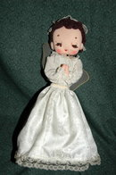 Bradley Japan Made Music Box Cloth Angel Doll