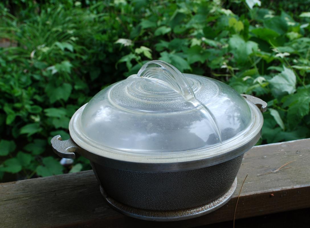 Guardian Service Ware Cookware   Roaster Aluminum Pot With Glass lid