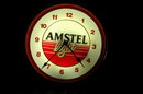 Amstel Lighted Beer Sign Clock -Vintage **PRICE REDUCED**!!