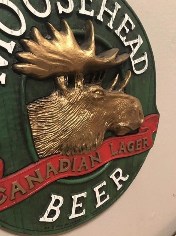 MOOSEHEAD CANADIAN LAGER BEER PLASTIC 3-D SIGN