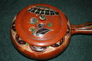 Very Old Mexican Pottery Dish with Lid/Handle