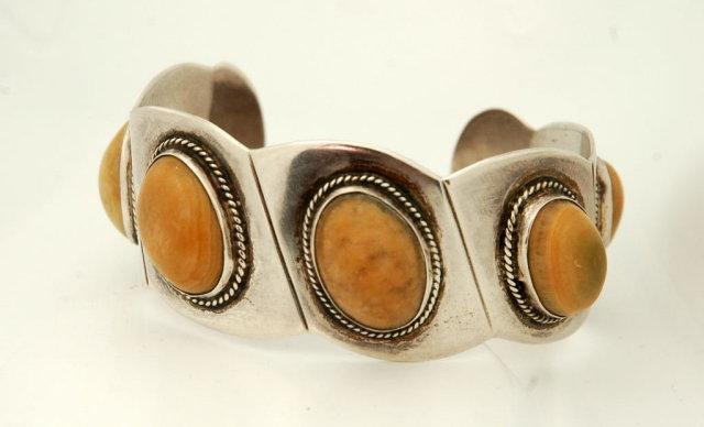 Heavy Taxco Mexico 980 Silver  Cuff Bracelet