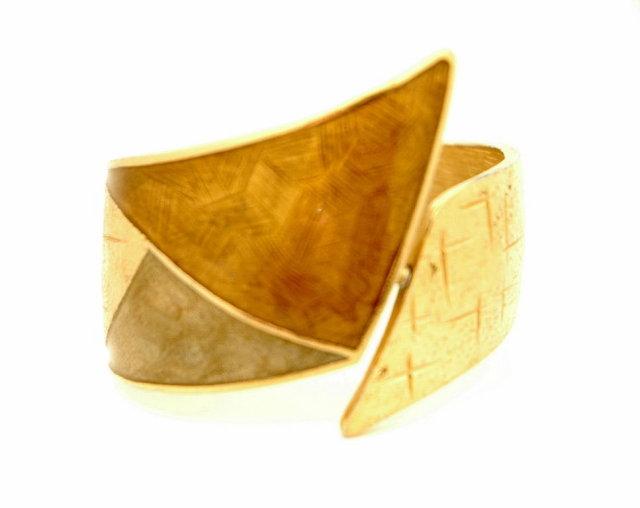Retro Mod Fat Hinged Cuff Bracelet  *Price Reduced!*