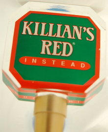 Killians's Red Instread Lucite Tap Handle