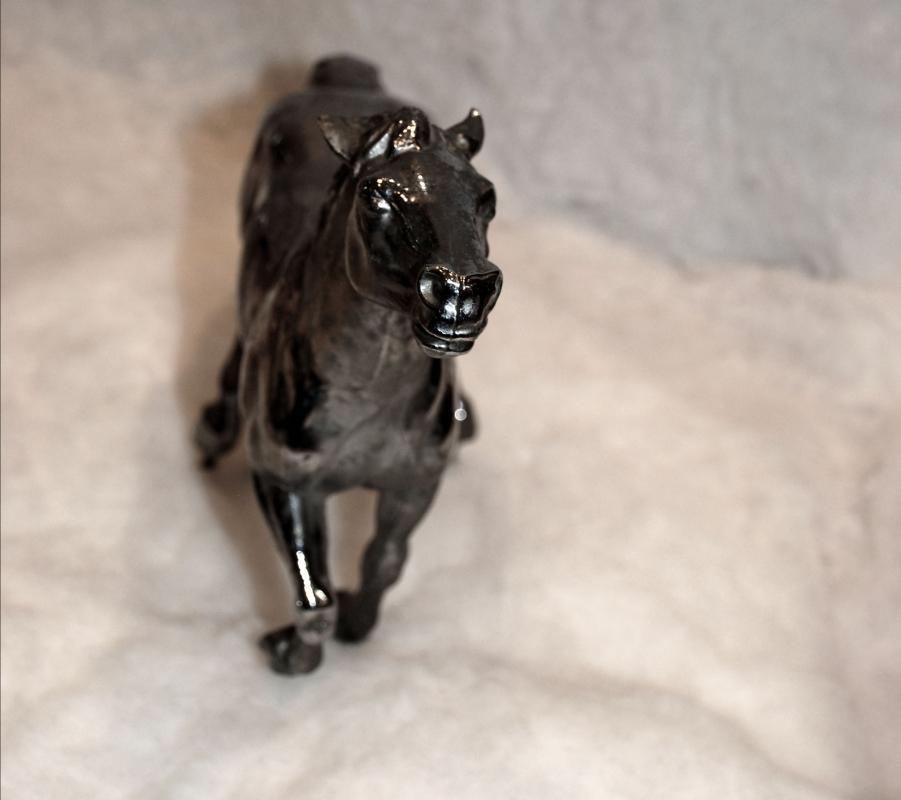 Chrome Horse Hood Ornament  ( large)