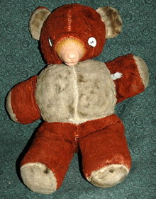 Antique  Stuffed Bear with Rubber Nose -***PRICE REDUCTION!***
