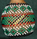 BIG  Afican Beaded Gourd  Shakere Noise maker