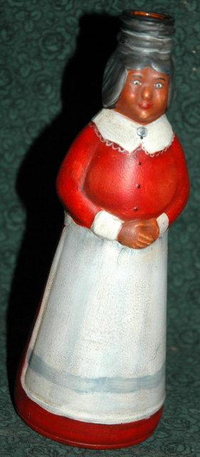 Folk Art Painted Aunt Jamima Syrup Bottle
